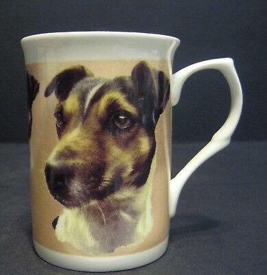 Jack Russel Terrier Dog By Mellor Fine Bone China Mug Cup Beaker