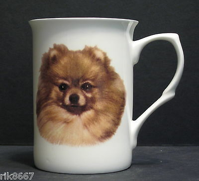 Pomeranian Dog (Head BF) Fine Bone China Mug Cup Beaker