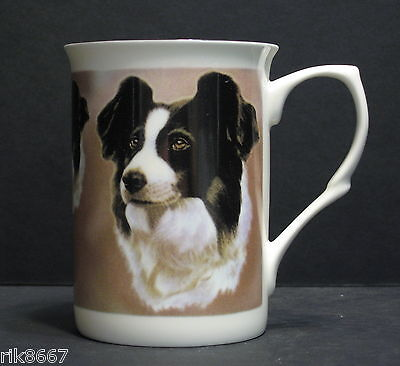 Border Collie Dog Fine Bone China Mug Cup Beaker