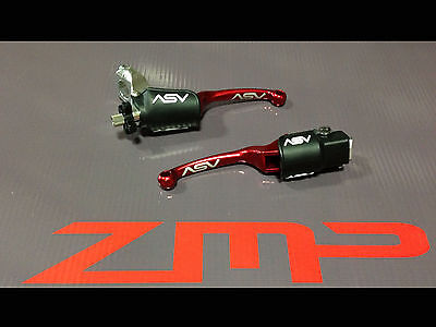 Yamaha Banshee Yfz 350 F3 Asv Red Clutch And Brake Levers Kit
