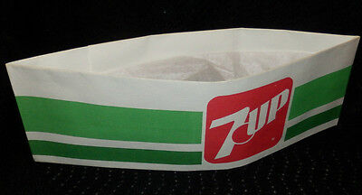 Vintage 7-UP Soda Jerk Employees Paper Hat –New Old Stock-Unused- Mint - 7up