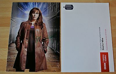 Catherine Tate Signed Official Doctor Who Photo Card Autograph TV Donna & COA