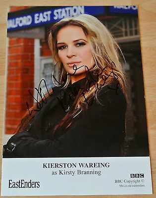 Kierston Wareing Signed Official Photo Card Autograph Eastenders TV Kirsty & COA