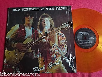 ROD STEWART & THE FACES Real Good Time LP S.PIG Transparent Yellow (EX/EX+) AB6