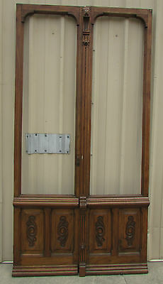 Antique Mexican Old Pair Carved Doors-Vintage-Primitive-Rustic-51x100---WOW