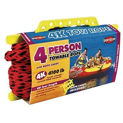 Airhead 4K 1-4 Rider Boat Tow Rope For Tube Toy or Accessories 57-1532