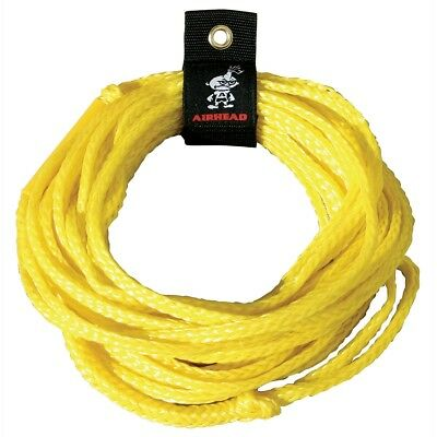Airhead Yellow 1 Rider Ski Boat Tow Rope For Tube Toy or Accessories AHTR-50