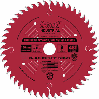Freud 160mm 48 Tooth Ultimate Plywood and Melamine Saw Blade LU79R006M20 New