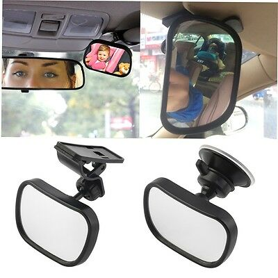 Universal Car Rear Seat View Mirror Baby Child Safety With Clip and SuckerHT