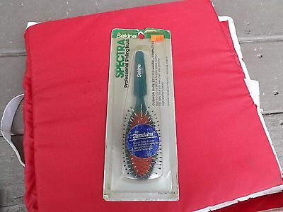 Vintage 1983 Sekine Spectra Styling Hair Brush New Old Stock Green Free Ship
