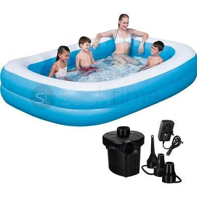 Large Family Swimming Pool Garden Outdoor Summer Inflatable Kid Paddling W/ Pump