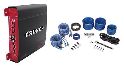 Crunch PX-1000.4 1000 Watt 4 Ch. Powerful Car Audio Amplifier+Amp Wire Kit