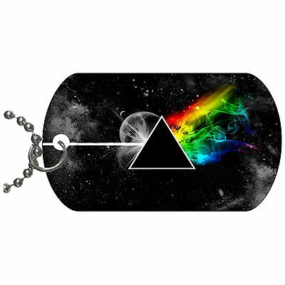 Stylized The Dark Side Of The Moon Dog Tag Necklace Chain