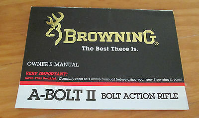 browning a bolt ii bolt action rifle owners instruction manual rh picclick com Browning Boss System Browning Boss Chart