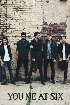 YOU ME AT SIX ~ BRICK WALL ~ 24x36 MUSIC POSTER ~ Josh Franceschi Helyer Miller