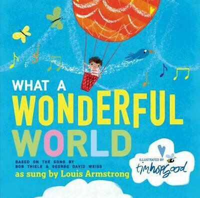 What a Wonderful World by Bob Thiele (English) Hardcover Book Free Shipping!