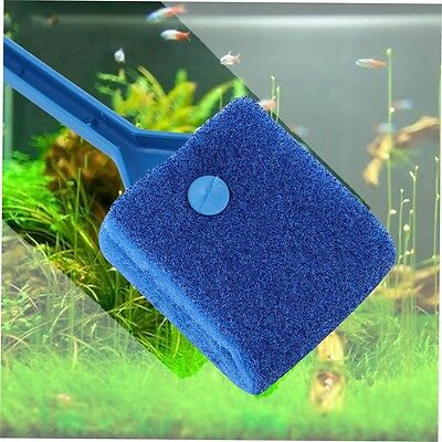 Aquarium Fish Tank Algae Cleaner Glass Plant 2 Head Cleaning Easy Brush UQR