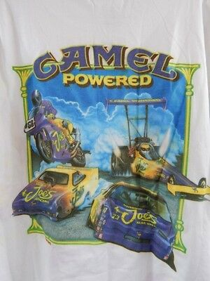 Nos Vintage 1994 Smokin Joes Racing Car CAMEL POWERED Pocket Silkworm T Shirt XL