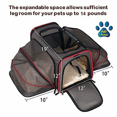 Expandable Pet Carrier- Airline Approved- Designed for Cats, Dogs, Kittens, - 2