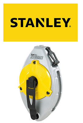 Stanley FatMax 30M/100ft Chalk Powder 5 In 1 Gear Drive Brick Line Reel, 047480
