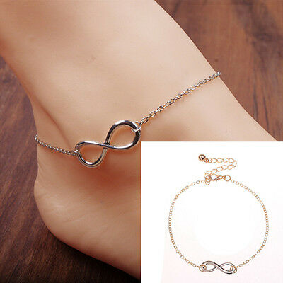 Gold/Silver Chain Women Ankle Anklet Bracelet Barefoot Sandal Beach Foot Jewelry