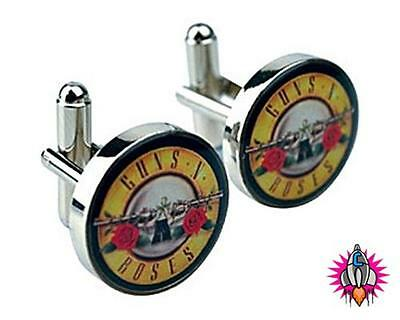Guns And Roses Logo Cufflinks Cuff Links Officially Licensed In Presentation Box