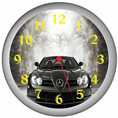 Black Car In Forest Room Decor Wall Clock
