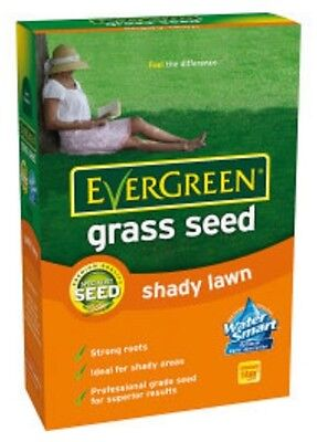 EverGreen Shady Grass Seed - 420g- 14m2 Approx coverage. Lawn Seed
