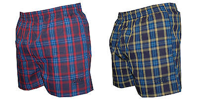 CHEX Amazon Ages 6-8 & 9-11 Yrs Check Boys Swimming Shorts Mesh Liner Tie Cord