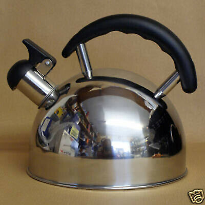 Sunncamp Rapport Stainless Steel 2 Litre Camping Fishing Whistling Kettle