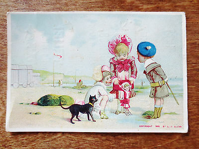 1800s Trade Card Cox's Local General Store Toys Games Dolls Books China Sale