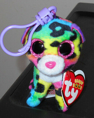 Ty Beanie Boo's Key Clip ~ DOTTY the Leopard~ 2016 NEW ~ FREE SHIPPING ~ IN HAND