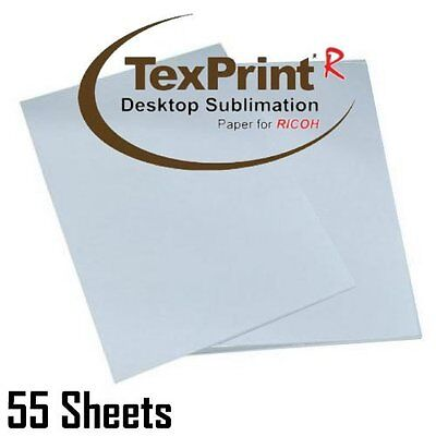 """Texprint-r 8.5"""" X 11"""" Sublimation Paper for Ricoh Printers pack of 55 Sheets -"""