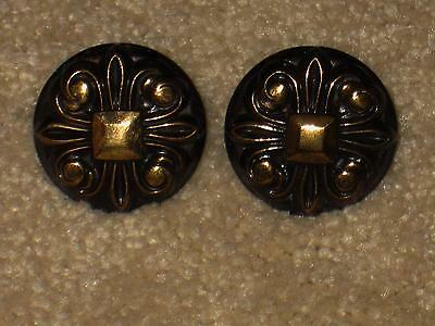 2 Vintage AMEROCK Mid Century Antique Copper Cupboard Cabinet Drawer Knob Pull