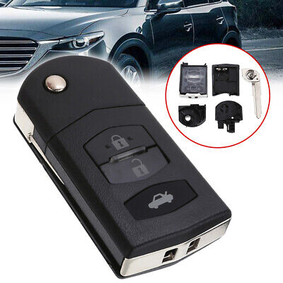Flip Folding Remote Key Fob Case Shell Fit For MAZDA 2 3 5 6 RX8 MX5 3 Button