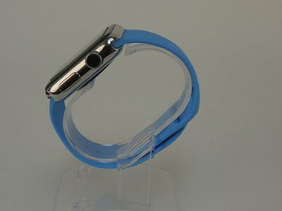 Blue Apple Watch 38mm Replacement Silicone Wrist Bracelet Sport Band Strap