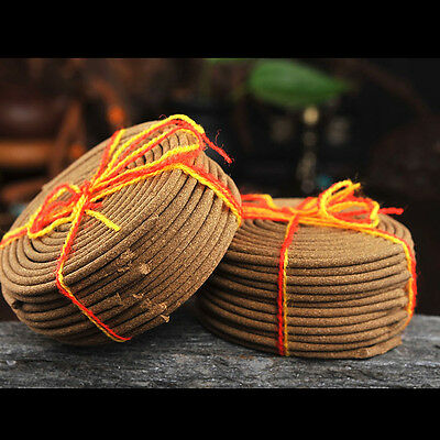 Tibetan Tibet Buddhist  Pure Natural coil Incense Pay Respect For Buddha 4hours