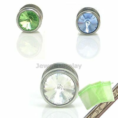 Round Glass Belly Navel Rings Bars Body Piercing Earring Jewellery JB98