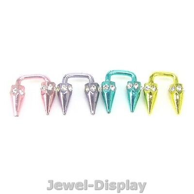 Clear Strass Belly Navel Nose Rings Bars Body Piercing Jewellery JB100