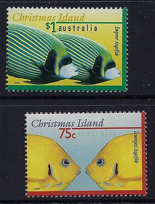 1995 Christmas Island Marine Life Part I Set Of 2 Fine Mint Mnh/muh