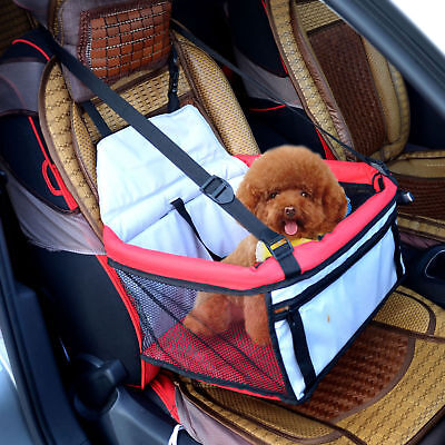 PawHut Pet Car Seat Cover Dog Puppy Cat Bag Booster Basket Carrier Travel Bed
