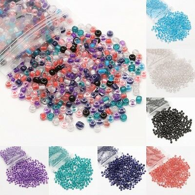 Wholesale 500/3000Pcs Acrylic Seed Beads Spacer Loose Beads For Jewelry Making