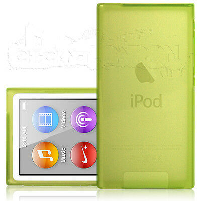 Green Protective Gel Case Cover Skin Grip For Apple iPod Nano 7 / 7th Generation