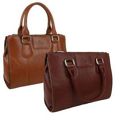 NEW Ladies Soft Natural LEATHER Medium Grab Handbag by GiGi Giovanna Collection