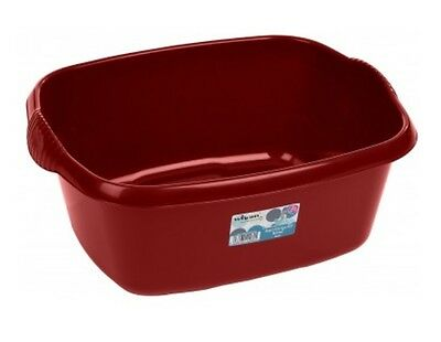 Wham Large 38cm Rectangle Plastic Washing Up Sink Bowl Household - Red Colour