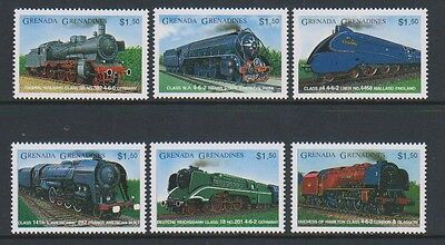 Grenada Grenadines - 1996 Steam Railway Locomotives set - MNH - SG 2232/7