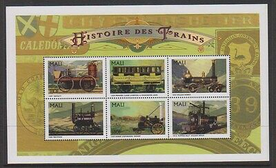 Mali - 1996 Historic Traiins sheet - MNH