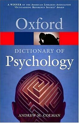 A Dictionary of Psychology (Oxford Paperback Ref..., Colman, Andrew M. Paperback