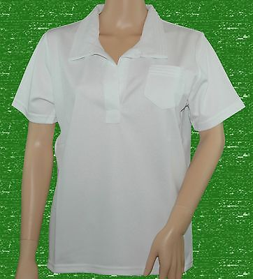 CATHEDRAL Ladies Joanne Polyester White Bowling Blouse Short Sleeve Ex Display