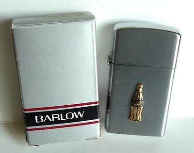 Original, 1950 Barlow Coca Cola Gold Bottle, Cigarette Lighter.U.S.A Mint in Box